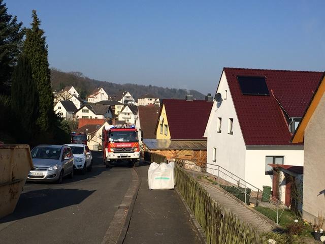 Schornsteinbrand Eichendorffweg in Bad Karlshafen