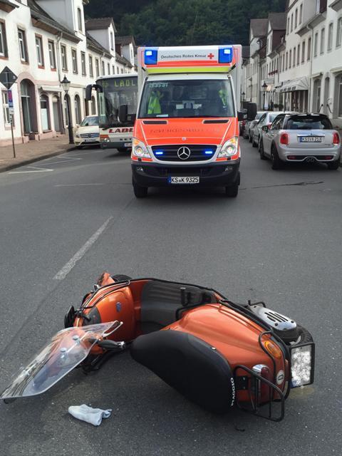 Verkehrsunfall Weserstraße