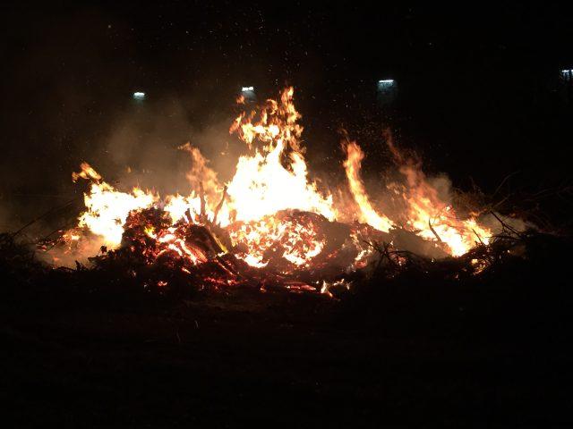 Osterfeuer auf dem Campingplatz 31.03.2018