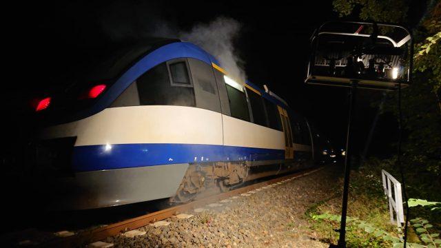 TH Bahn – Brand in einem Personenzug – (nächtliche Alarmübung)